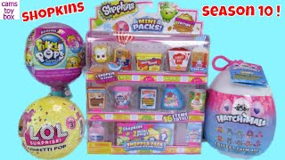 Shopkins Season 10 Minis Pikmi LOL Surprise Confetti POP Dolls Toys Unboxing Kids Fun Review