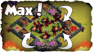 RH 9 Nur MAX Drachen Angriff haha.. | CLASH OF CLANS | Mauern to Max 80/250! (Deutsch / German)