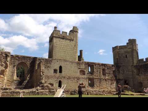 Inside Bodiam Castle.