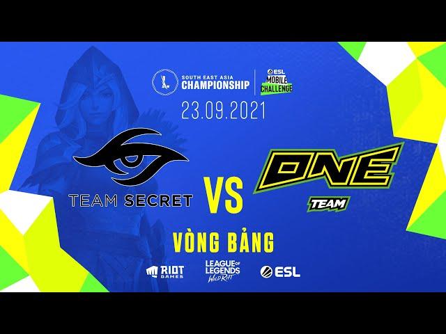 TS vs ONE l Vòng Bảng - Ngày 1 SEA Championship (23.09.2021)