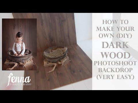 Dark Wood Photography Backdrop