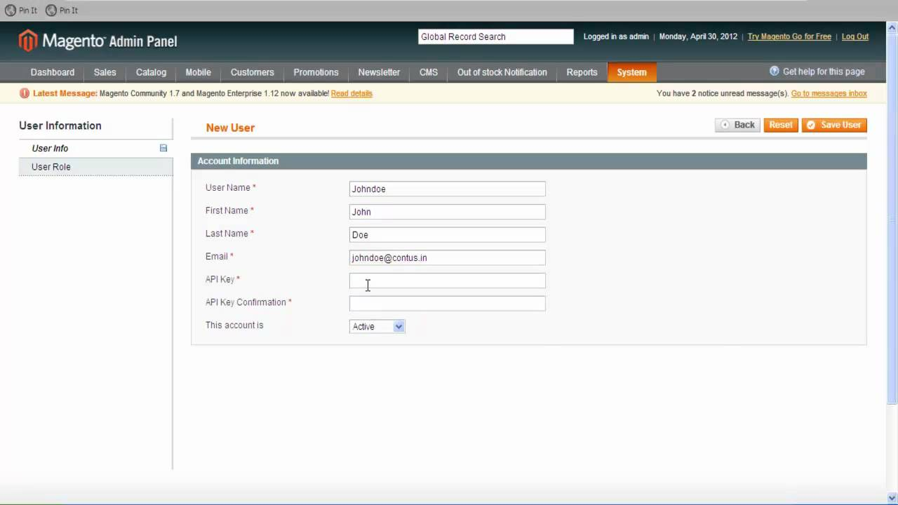 How to create a web services API for Magento to install Mob e-Commerce  files?