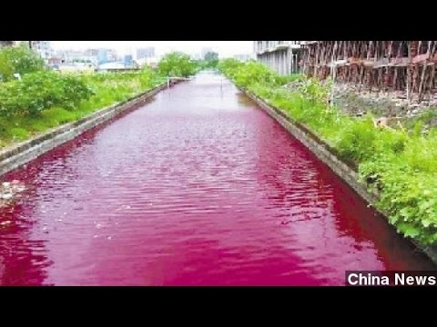 Chinese River Mysteriously Turns Blood Red