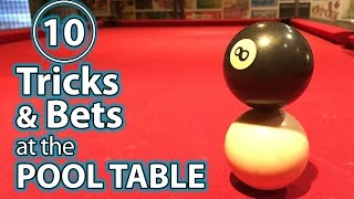 Pool Table - 10 Best Trick Shots, Bets & Pranks at the POOL TABLE!