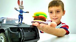 Видео для Детей. Супер бургер для Джуди Хопс из Зверополиса
