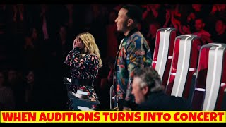 When AUDITIONS Turns Into CONCERT | THE VOICE | UNBELIEVABLE