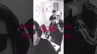 De la Ghetto Instagram - with Daddy Yankee in the studio