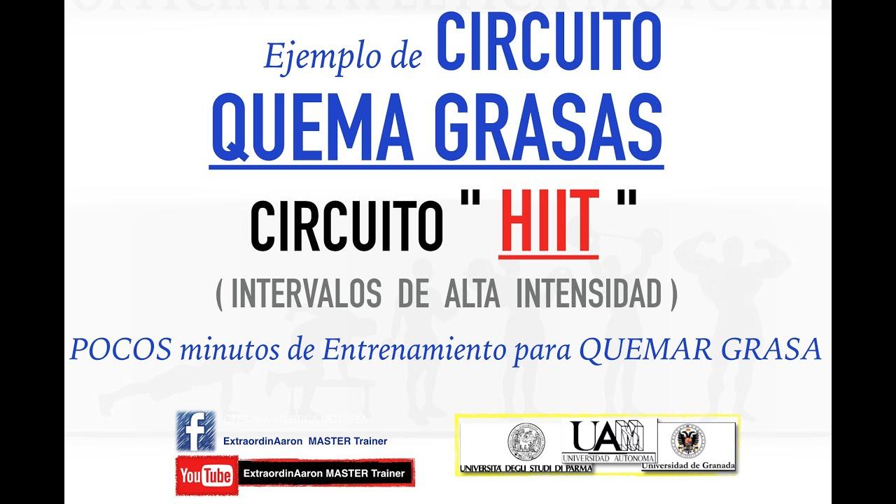 Circuito Quemagrasas : Rutina cardio hiit training para quemar grasa y adelgazar