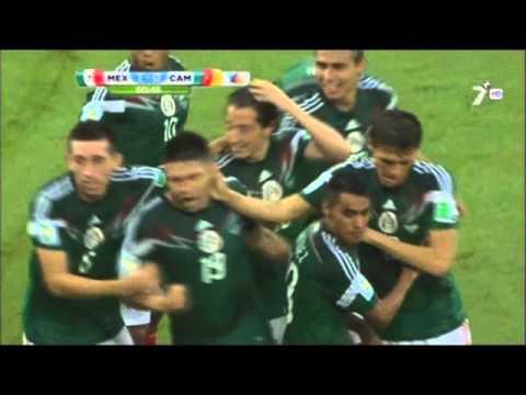Mexico vs Camerun 1-0 Grupo A Mundial 2014 TV Azteca