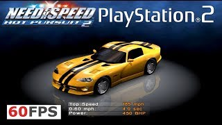 ALL Cars PS2 Need for Speed Hot Pursuit 2 Showcase 1440p 60fps