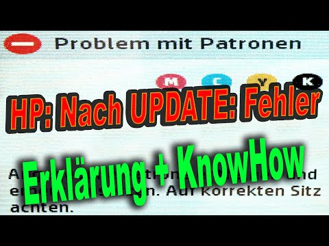 Lösung Fehlermeldung: Problem Mit NICHT-Original-Drucker-Patronen Die HP 903 & HP 953 (XL) Ersetzen.