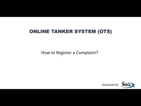 How to Register a Complaint in OTS (Online Tanker System)