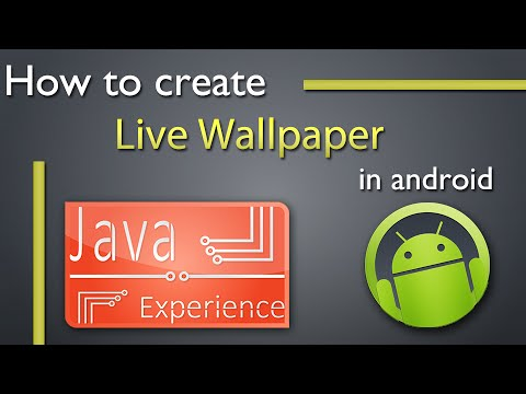 How to create Live Wallpaper in android - YouTube