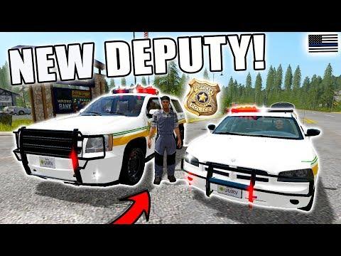 HIRING A NEW DEPUTY | POLICE PURSUIT | Ft. DEPUTY ROGERS | FARMING SIMULATOR 2017