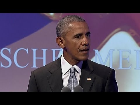 "Former Pres. Obama speaks of need to ""overcome our fears"""