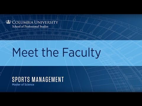 Meet Columbia's Sports Managment Faculty: Tom Richardson Faculty