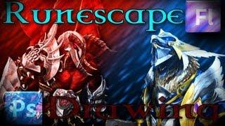 Runescape Drawing: Kree'arra vs K'ril Tsutsaroth