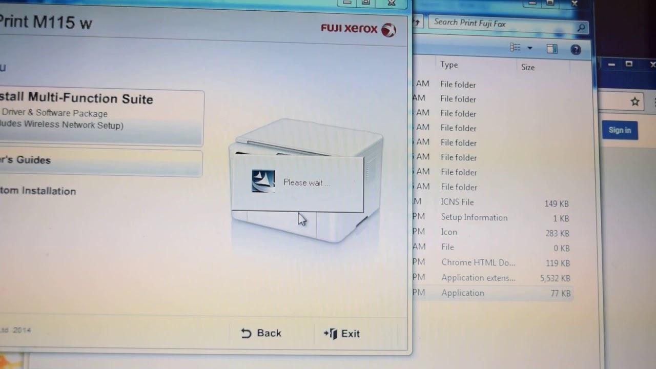 Fuji Xerox Docuprint M115w Driver Install Printer Dengan Wifi