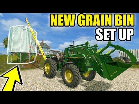 FARMING SIMULATOR 2017 | WE GOT A NEW GRAIN BIN ON THE FARM & FINISHED PLANTING | EP #6