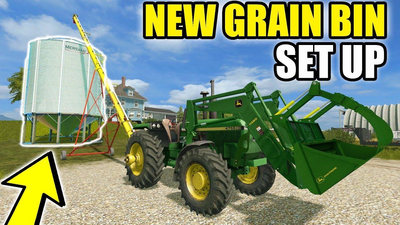 farming-simulator-2017-we-got-a-new-grain-bin-on-the-farm-finished-planting-ep-6