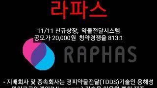 [세력주닷컴 신규상장정보] 라파스 - 한화시스템 제테마…