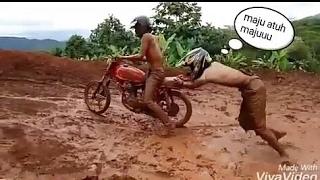 Kumpulan Video Lucu & Gagal Jumping Saat Mengendarai Motor Trail