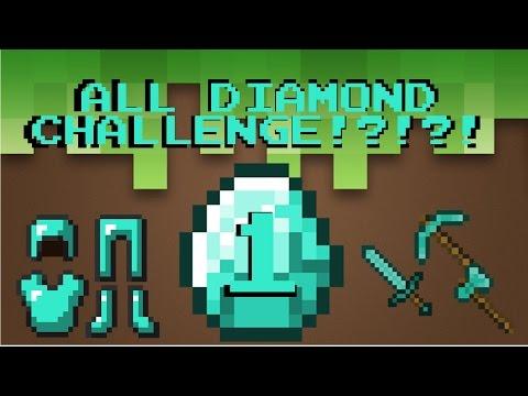 ALL DIAMOND CHALLENGE #1 | Minecraft: Alone Gamer