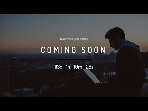 How To Make Coming Soon Page Using Html And CSS | Launch Page In HTML CSS