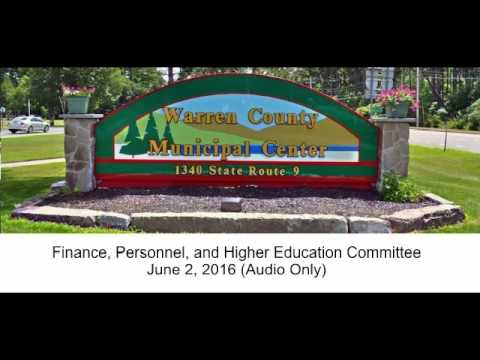 Finance, Personnel, and Higher Education Committee June 2, 2016
