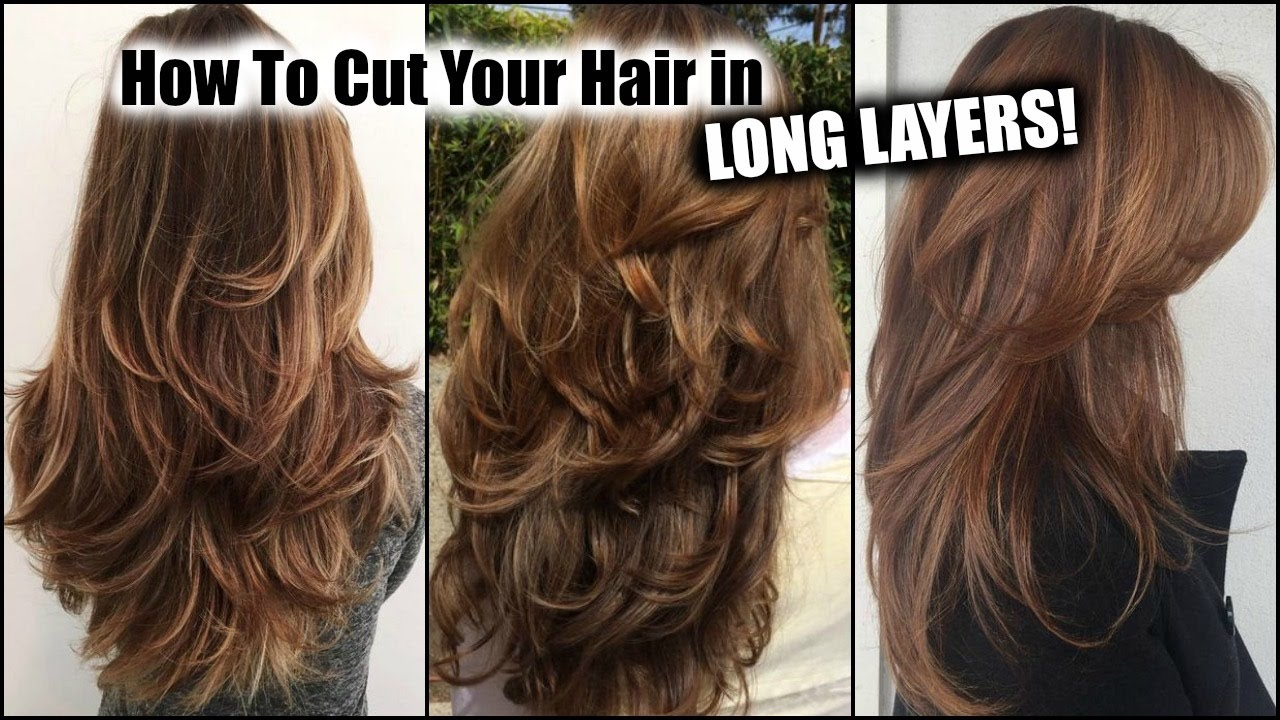 how to style long thin hair how i cut my hair at home in layers layered 3852 | maxresdefault