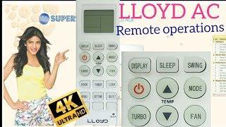 LLOYD AC à Distance de la fonction [ opérations à distance]