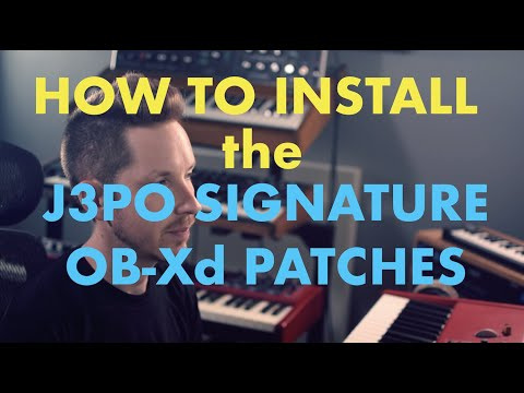 How to load the J3PO Signature OB-Xd Patches