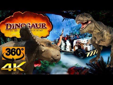 "360° 4K Dinosaur Ride ""Extreme Low-Light"" Animal Kingdom – Walt Disney World"