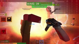 playing roblox with my friend|zombie attack