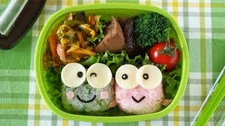 How to Make Kero Kero Keroppi Bento Lunch Box (Recipe) けろけろけろっぴ弁当 (キャラ弁 レシピ)