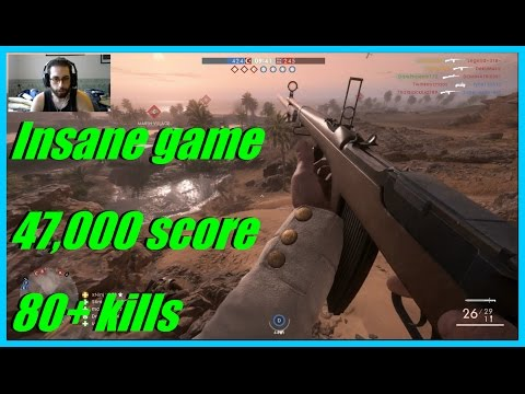 Battlefield 1 - Crazy score game! 47,000 score (conquest) 80+ kills! | Selbstlader optical!