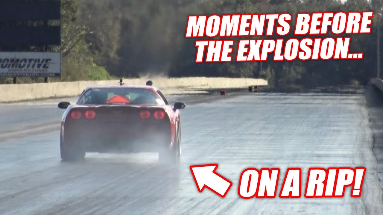 the-auction-corvette-goes-drag-racing-ends-horribly-engine-explosion