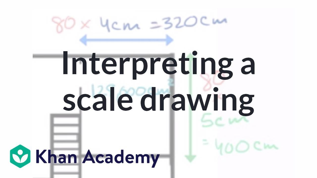 small resolution of Interpreting a scale drawing (video)   Khan Academy