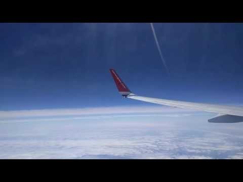 Norwegian air shuttle 737-800 over bay of Biscay