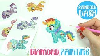 DIY Diamond Painting My Little Pony RAINBOW DASH Sticker! (Beginners Tutorial Kit)