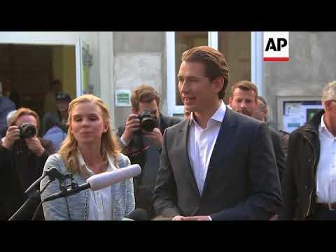 People's Party head Kurz speaks after voting in Vienna