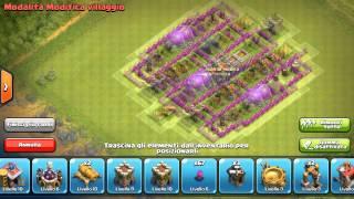 Clash of Clans disposizione farming villaggio Municipio lv. 8
