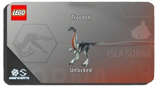 Lego Jurassic World - How To Unlock Troodon Dinosaur Character Location