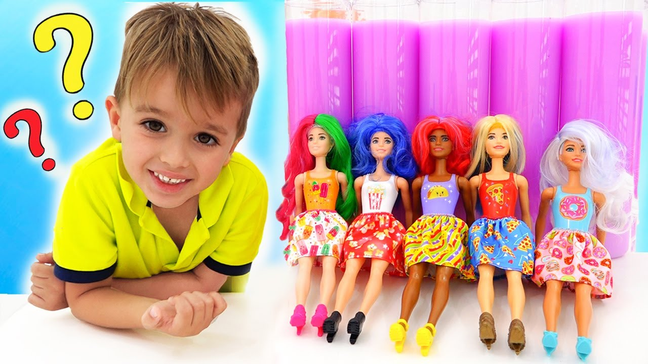 Download Vlad and Nikita play with Barbie Color Reveal Dolls