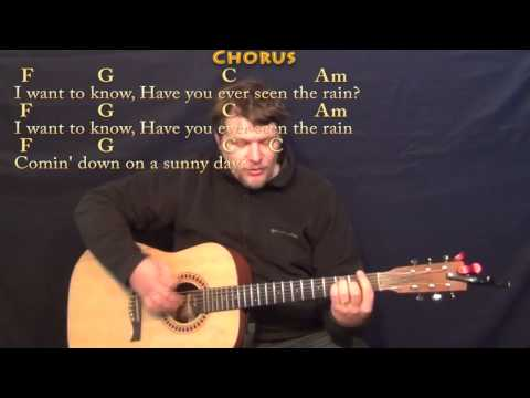 Have You Ever Seen the Rain (CCR) Strum Guitar Cover Lesson with Chords/Lyrics