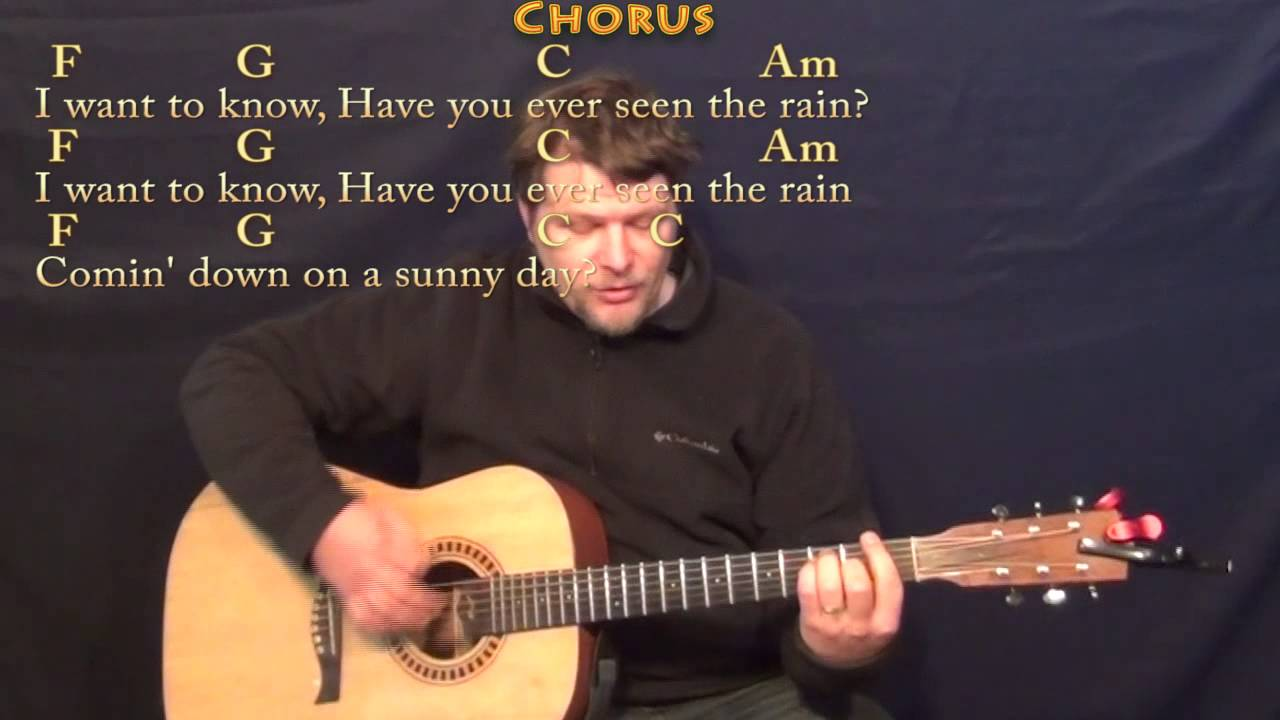 Have You Ever Seen The Rain Ccr Strum Guitar Cover Lesson With