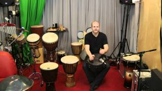Beginner hand drum lesson #1 with a Remo djembe(Some people asked me to make some tutorials how to play handdrums. I will make a few of this in the next weeks. Every wednesday you can see a new one., 2011-09-28T08:20:48.000Z)
