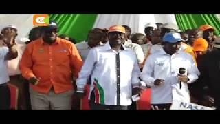 Raila awarudia watu wa Kibra