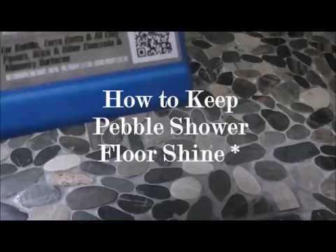 How To Keep Pebble Shower Floor Shine No Mildew You
