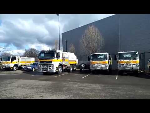ACT Rural Fire Service Tankers At ESA Headquarters